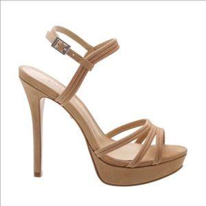 SCHUTZ Women's Nubuck Leather High-Heel Sandals
